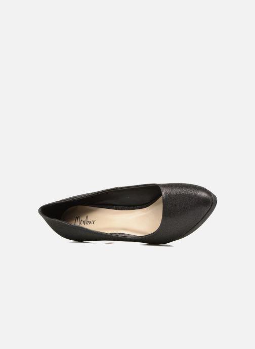 Zapatos de tacón Menbur Yedra Negro vista lateral izquierda