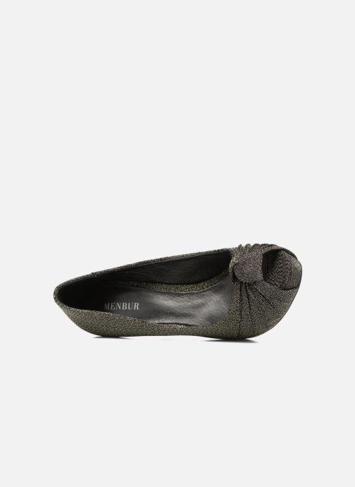 Zapatos de tacón Menbur Yantra Negro vista lateral izquierda