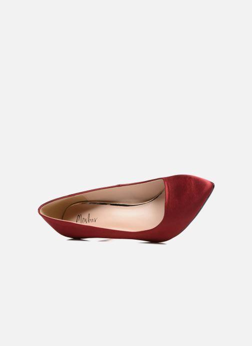 Zapatos de tacón Menbur Domingo Vino vista lateral izquierda