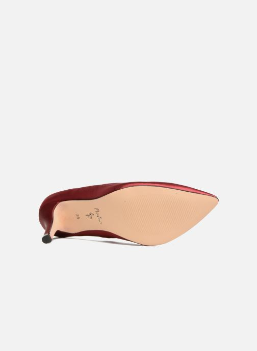 Zapatos de tacón Menbur Domingo Vino vista de arriba