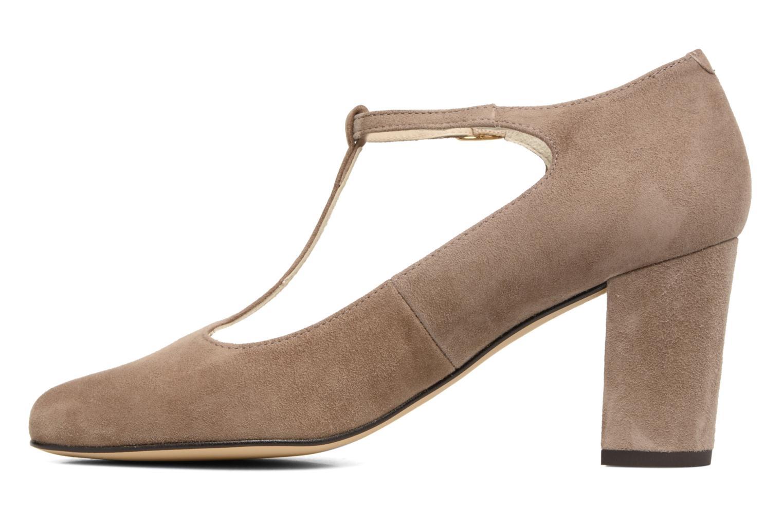 Zapatos de tacón Menbur Buren Beige vista de frente