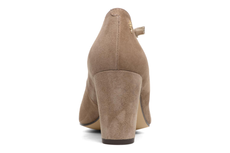 Zapatos de tacón Menbur Buren Beige vista lateral derecha