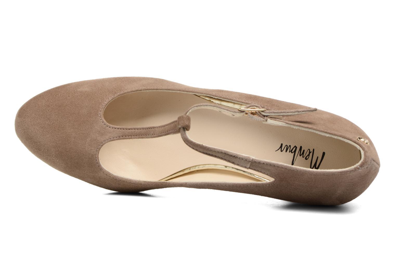 Zapatos de tacón Menbur Buren Beige vista lateral izquierda