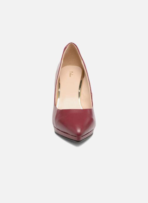 Escarpins Menbur Gela Bordeaux vue portées chaussures