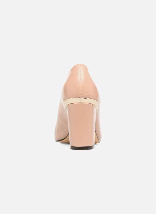 Zapatos de tacón Menbur Salso Rosa vista lateral derecha