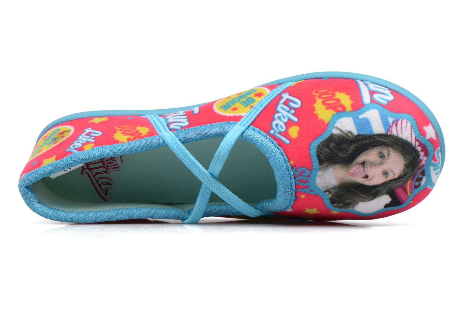 Slippers Soy Luna Sanadora Blue view from the left