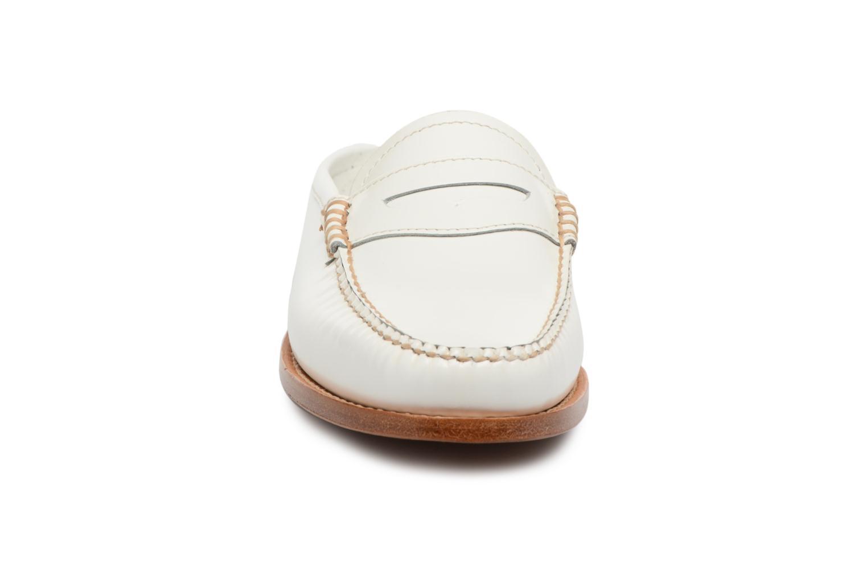 Mocassini G.H. Bass Weejun WMN Penny Slide Bianco modello indossato