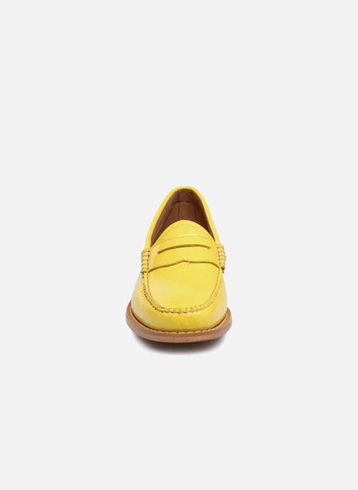Mocassins G.H. Bass Weejun WMN Penny Wheel Jaune vue portées chaussures