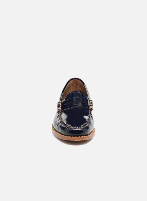 G Leather hBass Wheel Penny Mocassins Navy Weejun Wmn Deep Patent AR54jL