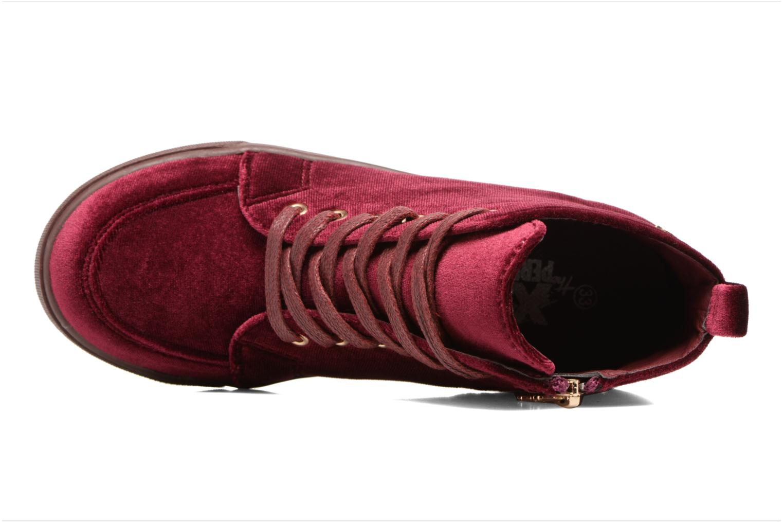 Sneaker Xti 55089 weinrot ansicht von links