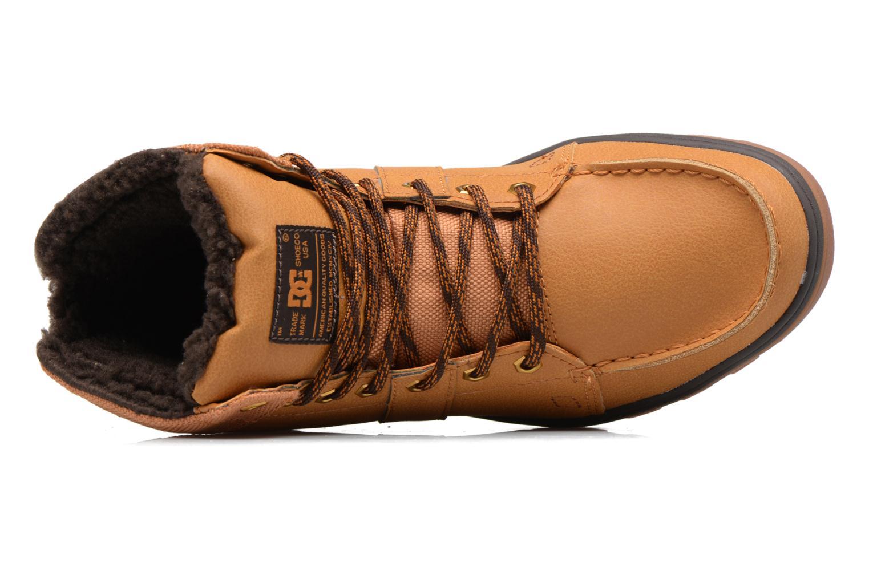 Chaussures à lacets DC Shoes Woodland Marron vue gauche