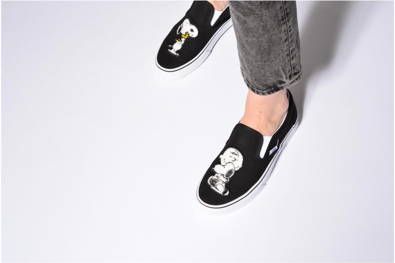 Sneakers Vans Classic Slip-On W x Peanuts Zwart onder