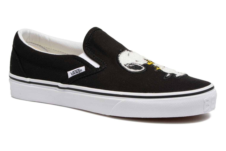 Sneakers Vans Classic Slip-On W x Peanuts Zwart detail