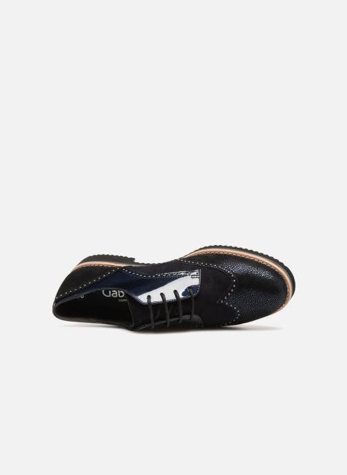 Chaussures à lacets Gabor Sara Noir vue gauche