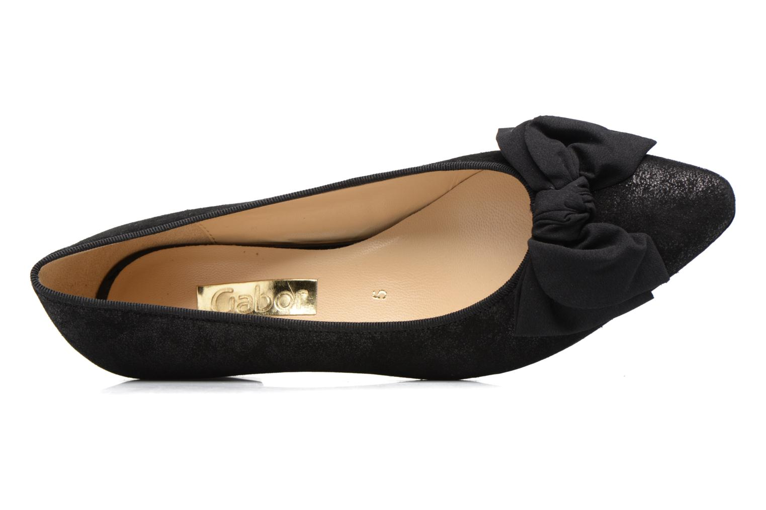 Ballet pumps Gabor Mayana Black view from the left