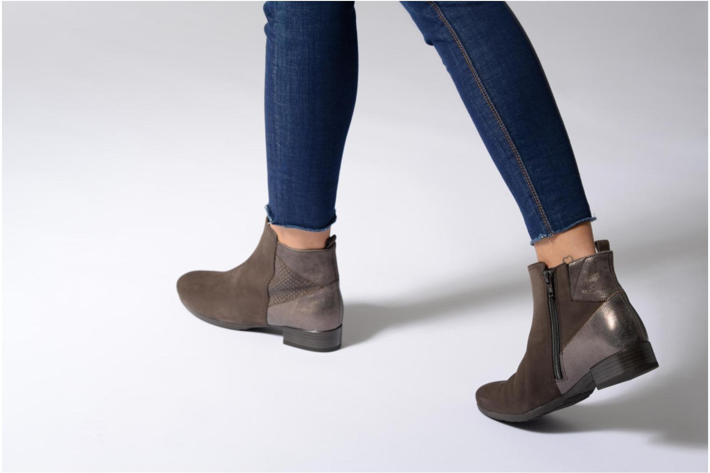 Bottines et boots Gabor Luisa Gris vue bas / vue portée sac