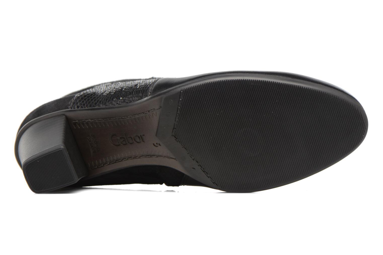 Bottines et boots Gabor Piana Noir vue haut