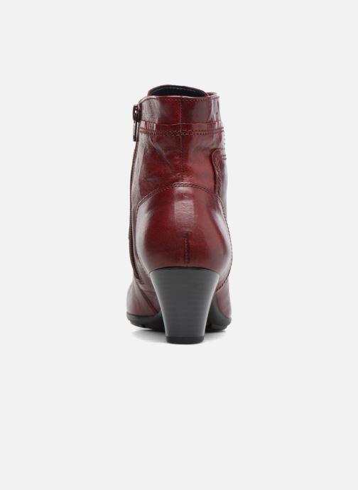 Bottines et boots Gabor Fiona Rouge vue droite