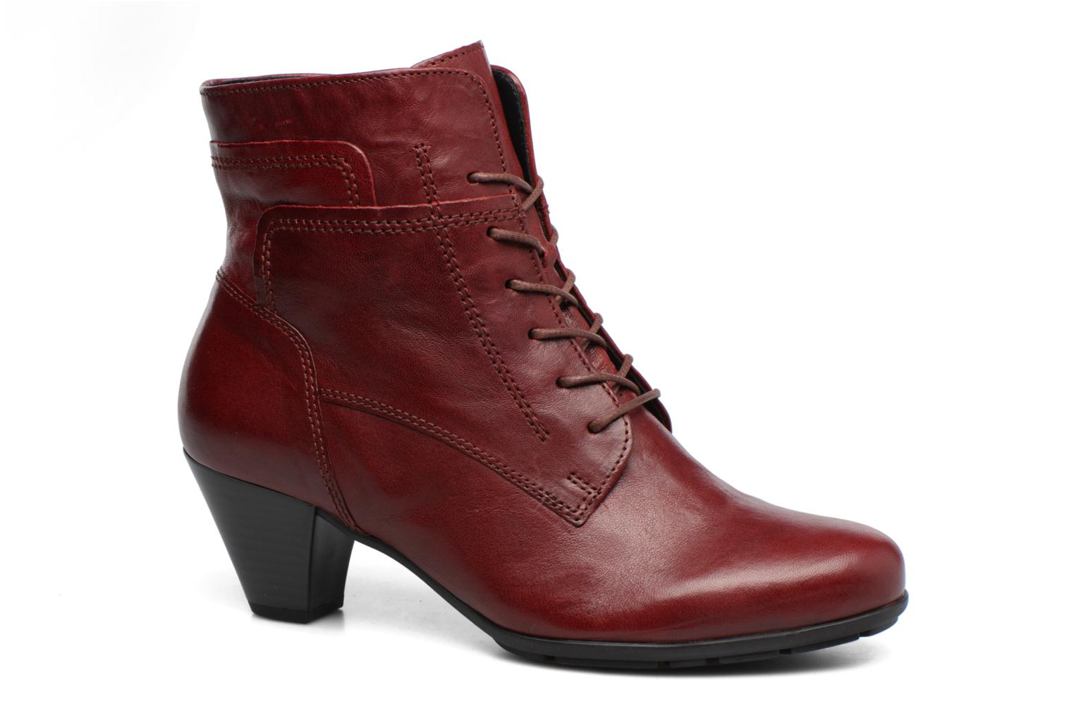 Ankle boots Gabor Fiona Red detailed view/ Pair view