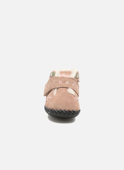 Chaussons Pediped Rosa Beige vue portées chaussures