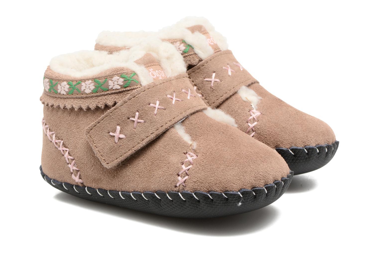 Hjemmesko Pediped Rosa Beige detaljeret billede af skoene