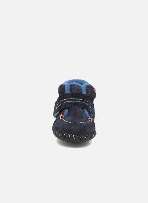 Pantofole Pediped Ronnie Azzurro modello indossato