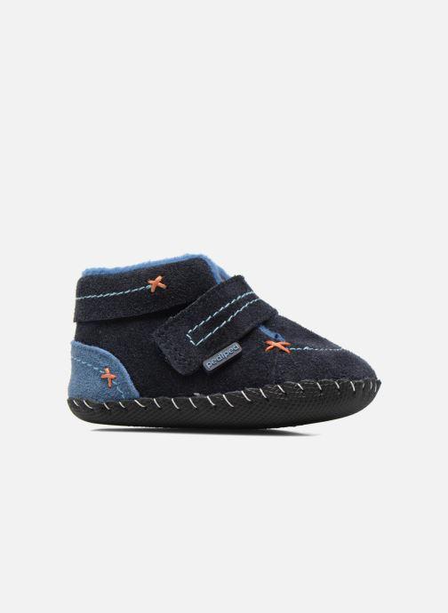 Pantofole Pediped Ronnie Azzurro immagine posteriore