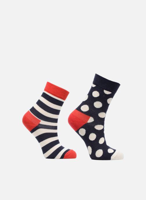 Strumpor och strumpbyxor Happy Socks Lot de 2 Chaussettes Stripe Kids Blå detaljerad bild på paret