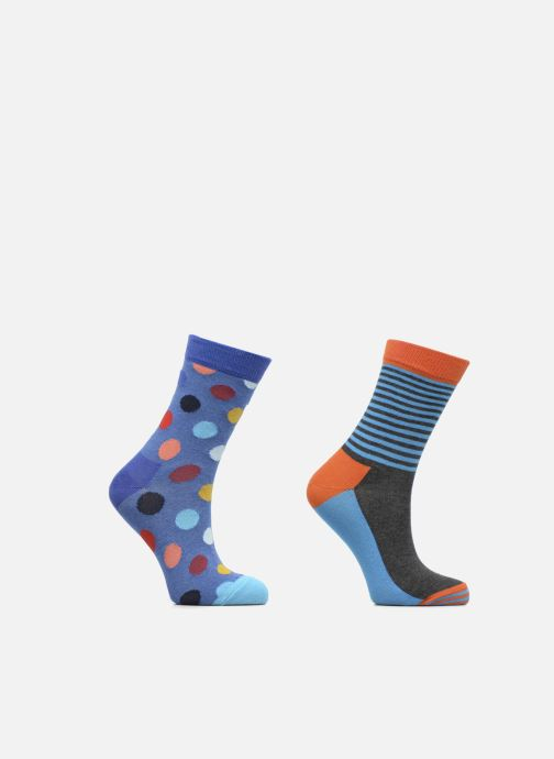 Sokken en panty's Happy Socks Lot de 2 Chaussettes Big Dot Kids Blauw detail