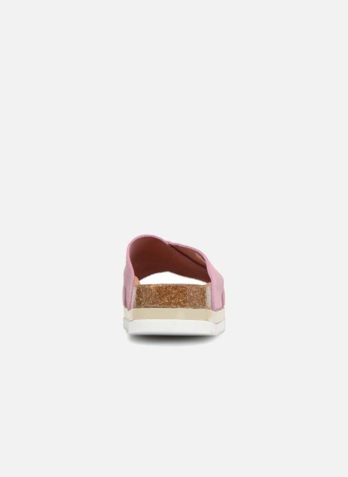 Zuecos Vero Moda Lisa Leather Sandal Rosa vista lateral derecha