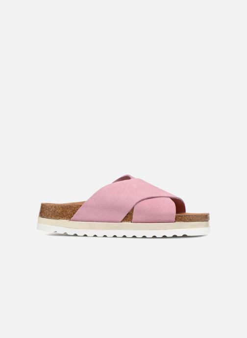 Zuecos Vero Moda Lisa Leather Sandal Rosa vistra trasera