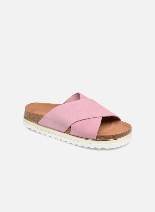 Wedges Vero Moda Lisa Leather Sandal Roze detail