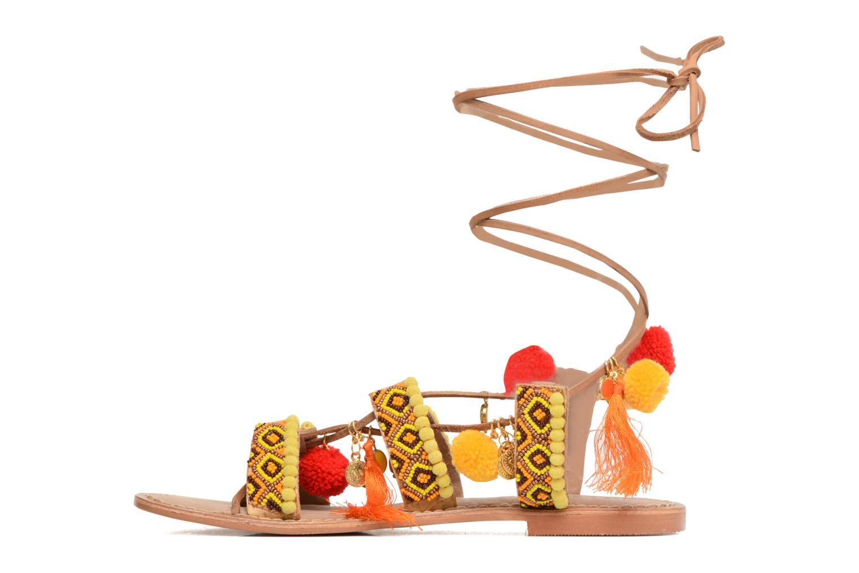 Sandalen Vero Moda Lullu Leather Sandal Oranje voorkant