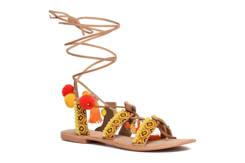 Sandalen Vero Moda Lullu Leather Sandal Oranje detail