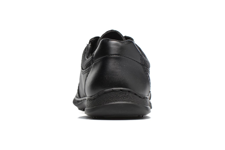 Zapatos con cordones Rieker Louis 04713 Negro vista lateral derecha