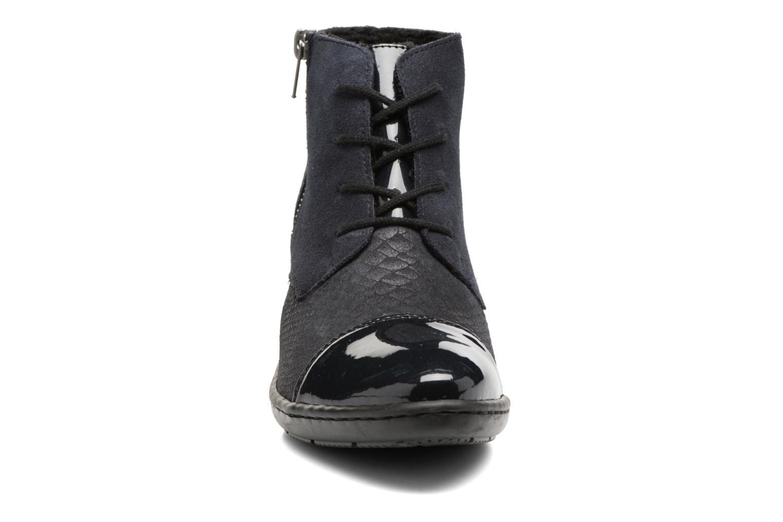 Bottines et boots Rieker Ivy 50241 Bleu vue portées chaussures