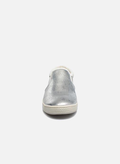 Baskets Pataugas JLIP/S Argent vue portées chaussures