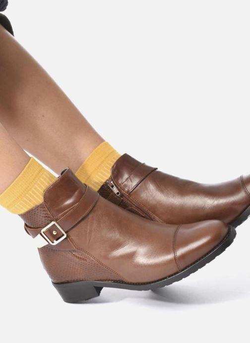 Bottines et boots Georgia Rose Lavanda Noir vue bas / vue portée sac