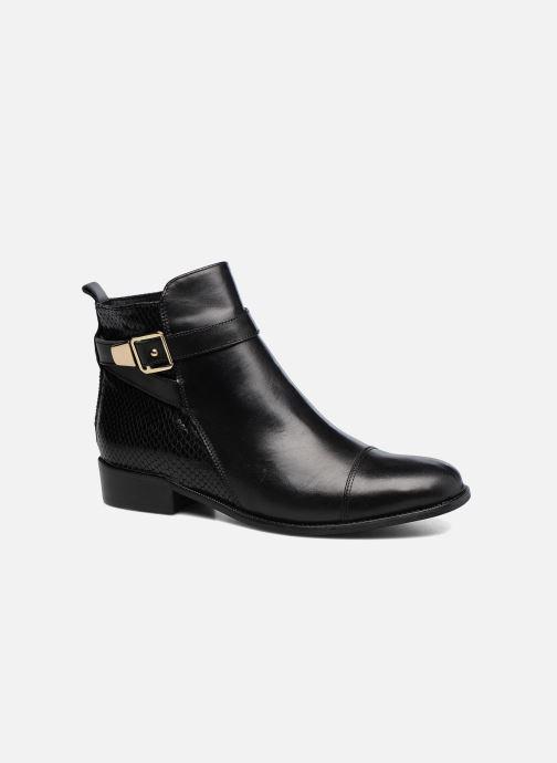 Ankelstøvler Georgia Rose Lavanda Sort detaljeret billede af skoene