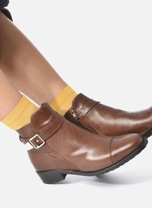 Stiefeletten & Boots Georgia Rose Lavanda braun ansicht von unten / tasche getragen