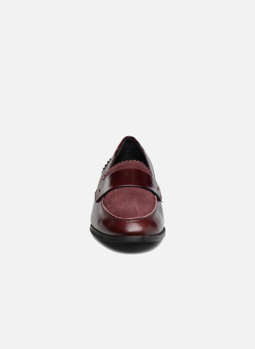 Mocassins Georgia Rose Lesly Bordeaux vue portées chaussures