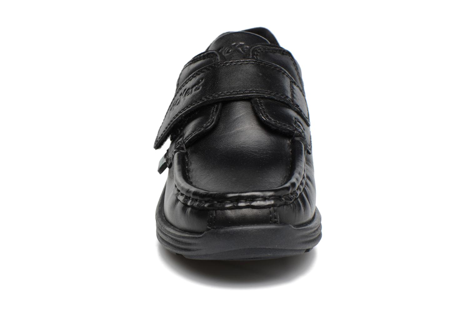 Velcro shoes Kickers REASAN STRAP LTHR Black model view