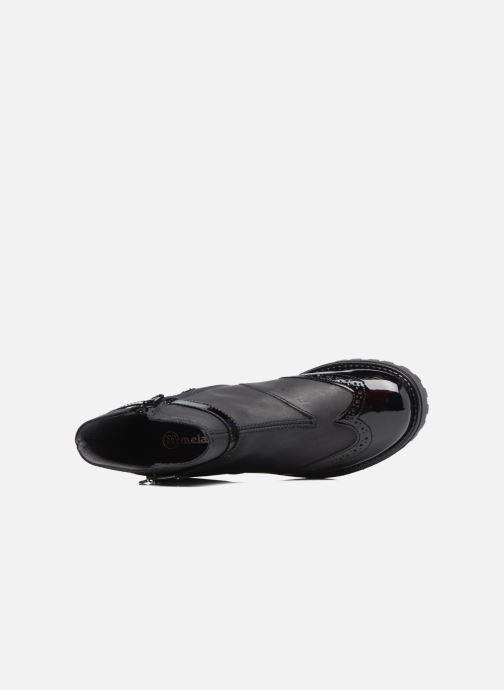 Stiefel Melania TRONCHETTO FIBBIA schwarz ansicht von links