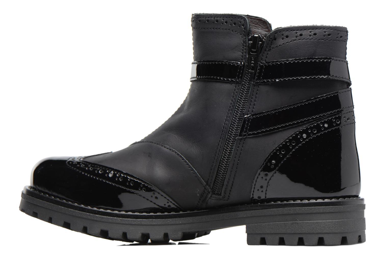 Stiefel Melania TRONCHETTO FIBBIA schwarz ansicht von vorne