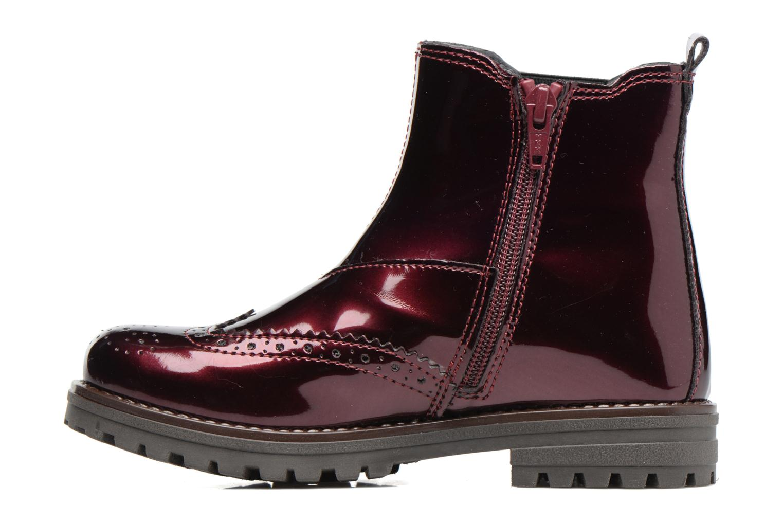 Boots Melania TRONCHETTO Vinröd bild från framsidan
