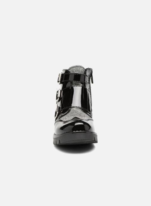 Boots & wellies Melania TRONCHETTO FIBBIE Black model view