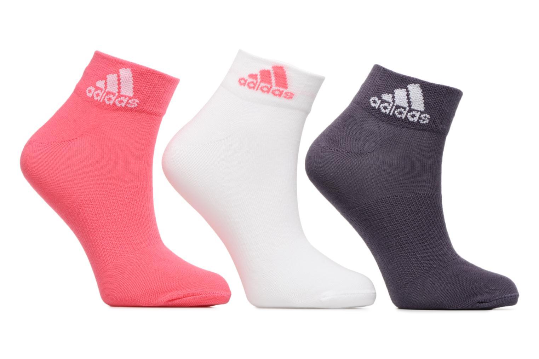 Medias y Calcetines Adidas Performance PER ANKLE T 3PP Rosa vista de detalle / par