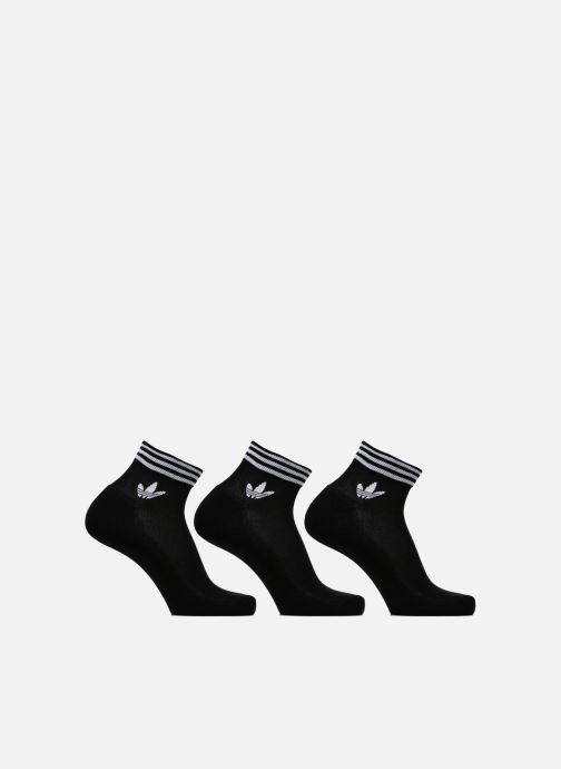 Strumpor och strumpbyxor adidas performance TREFOIL ANK STR 3P Svart detaljerad bild på paret