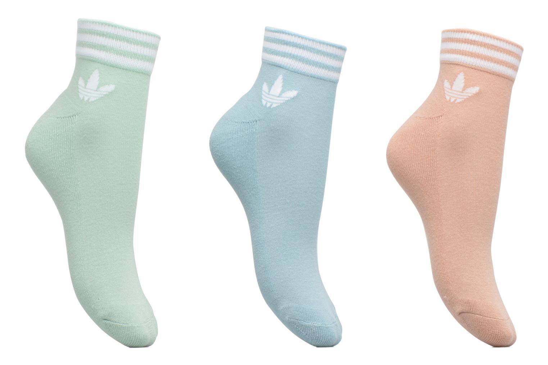 Socken & Strumpfhosen Adidas Performance TREFOIL ANK STR 3P grau detaillierte ansicht/modell