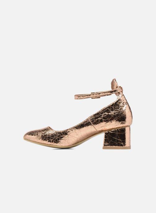 Ballerines I Love Shoes CAMILLA Or et bronze vue face